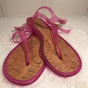 New Kate Spade Jelly T Strap Sandals Size B8